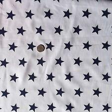 LARGE STARS POLYCOTTON FABRIC RED BLUE LIME ORANGE PINK GREY PURPLE GOLD CERISE