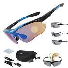 Cycling Polarized Glasses Outdoor Sports Sunglasses MTB PC Goggles Eyewear 5Lens