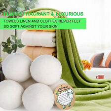 6cm 6Pcs Natural Reusable Laundry Clean Pactical Home Wool Tumble Dryer Balls