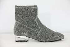 Nine West Silver Boots Fashion Booties Womens Metallic Stretch Retro sz 6 New