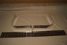 "3 PIECE JEEP YJ WRANGLER 1987-1995 DIAMOND PLATE SHORT 3 1/4 "" CORNER GUARDS"