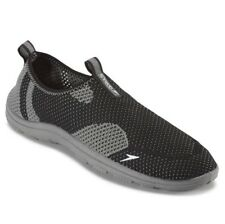 Men's Speedo Surfknit Water Shoes Sz S 7/8 Black Gray Breathable Quick Drying