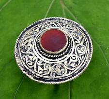 Red Carnelian Stone Afghan Kuchi Ring Carved Ethnic Jewelry Bohemian Tribal Boho