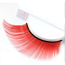 Purple Makeup Fashion Thick Eye Lashes Colorful False Eyelashes Plus Long