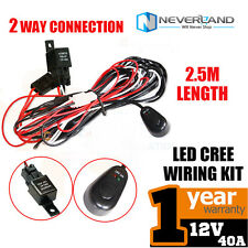 1pc Wiring Kit LED Spot Work Driving light bar Loom Harness Switch Relay