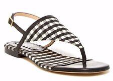 NEUF DIANE VON FURSTENBERG 9.5 m Myrna noir carreaux blanc Chaussures string