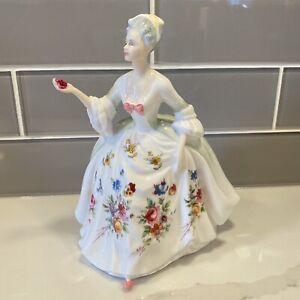 Royal Doulton Diana #2468  Porcelain Figurine Beautiful Floral Dress