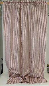 """Country Curtains Cotton Red Stripe Ticking French Country Farmhouse 4@41x62"""""""