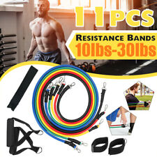 Resistance Tube Bands Weights Home Fitness Yoga Training Gym Workout 11PCS Set