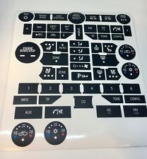 Saab ng9-5/9-4X Radio/climate button overlays/repair kit 2010-2012