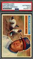 Dale Mitchell PSA DNA Coa Autograph 1956 Topps Hand Signed