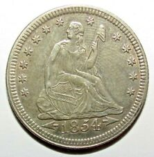 Seated Liberty Quarters 1854  Silver