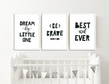 Monochrome Nursery Prints / Baby Room Decor / Pictures for Childrens Bedroom