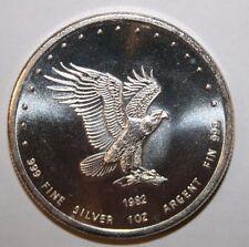 1982 Silver Eagle 1 Oz Round Monex International Art Bar/ Round ( 1 Troy Oz 999)