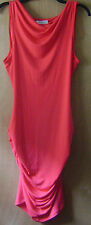 Women's Jennifer Lopez Coral/Pink Sleeveless Fitted Stretch Casual Dress L