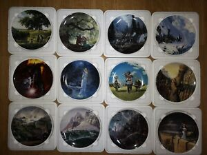Danbury Mint Lord of The Rings Plates Complete Collection - Mint Condition