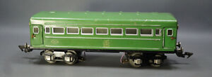 1960's Soviet Russian USSR Tin Toy Moskabel 0 Scale Train Passenger Car Coach