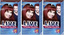 Schwarzkopf LIVE Intense 043 Red Passion Anti Fade Long Lasting Hair Dye x 3