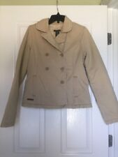 Vintage Women's Abercrombie & Finch Lined Short Tan Jacket Distress Size M
