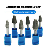 6mm Shank Tungsten Carbide Rotary Point Burr File Die Grinder Drill Bit Head