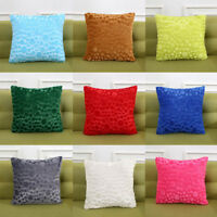 New Pillowcase Plush Square Cusion Cover Solid Living Room Bedroom Home Decor