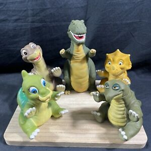 Vintage Pizza Hut 1988 Set Of 5 Land Before Time Hand Puppets Toy Dinosaurs!!