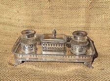 Georgian or Regency Silver Inkstand Encrier Standish Inkwell