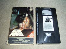 Star Wars (VHS, 1984) RARE Red Label, HiFi Stereo, Mark Hamill