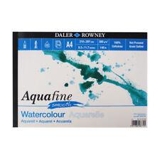 Daler Rowney Aquafine Acuarela PAD prensado en caliente 140lb/300gsm-A4 Suave