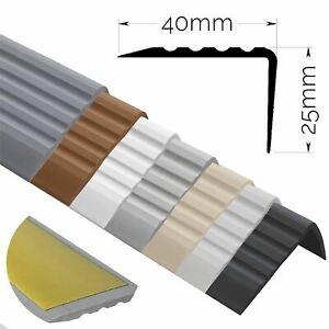 SELF-ADHESIVE Stair Anti-Slip Nosing Rubber Angle Step Edge PVC