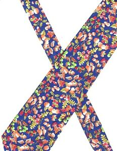 Banana Republic Necktie tie 56x3.5 fruit cotton blue w/multicolors