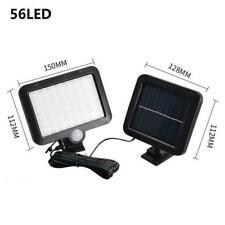 56LED Solar PIR Motion Sensor Wall Light Security Outdoor Lamp Garden W1W9