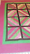 "MODERN PAPER ROLL SQUARES ~ BLACK EDGING: 31"" X 31""; LAPROBE OR QUILT TOP CENTER"