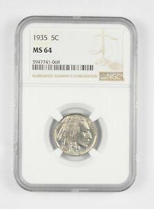 MS64 1935 Indian Head Buffalo Nickel - Graded NGC *055
