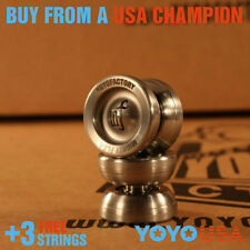 YoYoFactory Stainless Steel Yo-Yo Mighty Flea small  mini + FREE STRINGS