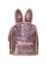 PINK BACKPACK WITH GLITTERS AND BUNNY EARS