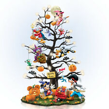 Trick or Treat Disney Halloween Tree Figurine - Resin Bradford Exchange