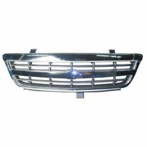 Front Grille Chrome/Black fits 2001 2002 2003 2004 2005 Chevrolet Venture