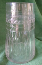 More details for vintage cut glass tapered / conical vase