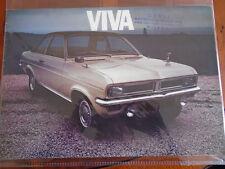Vauxhall Viva brochure c1970 Italian text