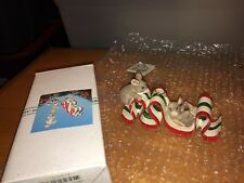 """Charming Tails """"Sticky Situation Ornament"""" Signed Silvestri Rare Ribbon Candy"""