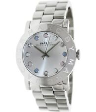 New Marc By Marc Jacobs MBM3214 Amy Colored Crystal Dial Silver Tone Watch + Box