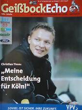 Programm 2000/01 1. FC Köln - FC Schalke 04