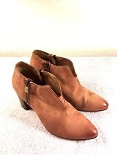 Pantanetti Donna womens light brown leather zipper heels boots size 38.5 Nice!
