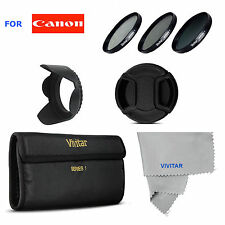 58mm UV CPL ND8 Filter Kit +LENS HOOD +LENS CAP  FOR CANON EOS REBEL T3 T3I T4