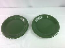 Eddie Bauer Home Pair Of Large Green Dinner Plates Plate Set Lot Of 2 Dinnerware