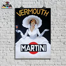 POSTER VINTAGE VERMOUTH MARTINI BAR APERITIVO BICCHIERE TOP QUALITY GRAPHICS