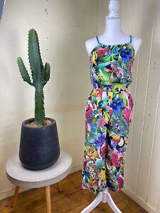 Kate Morgan Studio X H&M Jungle Print Jumpsuit Size XS *Read Description*