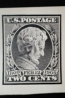 US Stamps 1909 Abraham Lincoln Black Vignette Large 9 1/2 by 71/2 Card