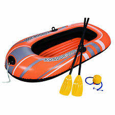 Bestway Kondor 2000 77 x 45 Inch Inflatable Raft Boat Set with Oars and Pump